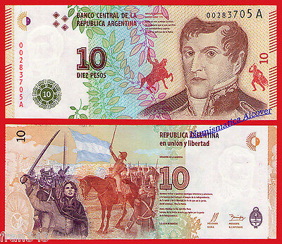 ARGENTINA 10 Pesos 2016 Pick NEW DESIGN - UNC