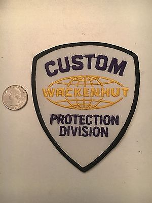 Wackenhut Custom Protection Division Security Police Patch