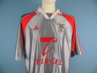 Authentic Benfica 1999-2000 Away Shirt UK XL Telecell Portugal