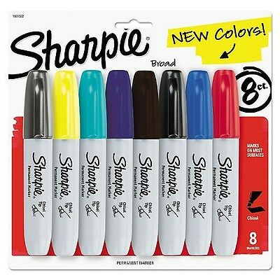 Sharpie Permanent Marker, 5.3mm Chisel Tip, Assorted Colors (8 ct.)