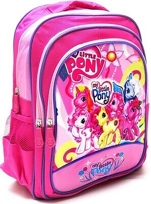 New Large Backpack Bag Pink My Little Pony Mlp Girls Kids School Xmas Gift Toys