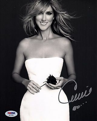Celine Dion Signed 8X10 Photo! Stunning Singer Autograph! Psa Dna! 1