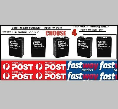 Cards Against Humanity Australian Expansion Pack 3,4,5,6 lowest price