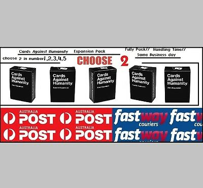 Cards Against Humanity Australian Expansion Pack (choose 2 in 1,2,3,4,5)