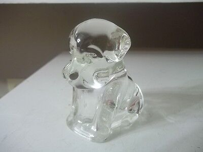 Vintage Estate Find Glass Puppy Dog Candy Container