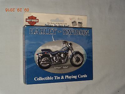 Harley-Davidson TWO DECKS PLAYING CARDS in Collector Tin - NEW