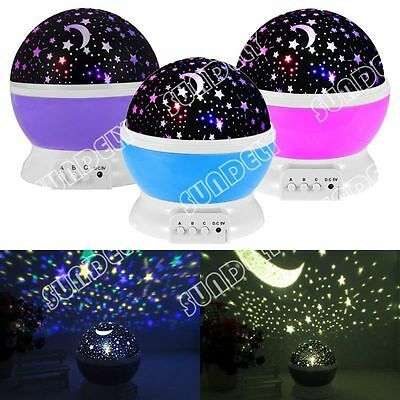 Beautiful Star Sky Starry Night Projector Light Lamp For Kids Baby Bedroom