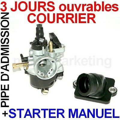 CARBURATEUR MANUEL PIPE D'ADMISSION pour PIAGGIO DIESIS FLY 50 LIBERTY FREE 2T