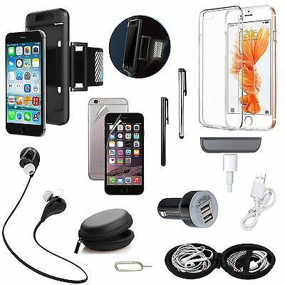Sport Armband Black Case Bluetooth Earphones Accessory Pack For iPhone 7 Plus