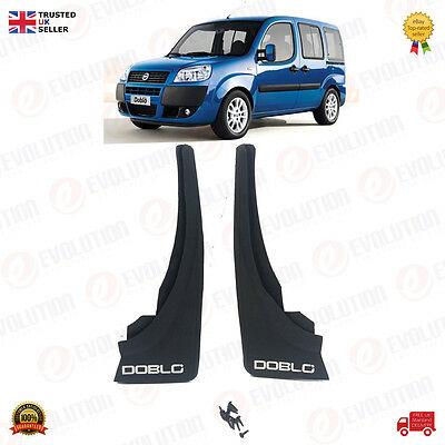 Brand New Pair Of Rear Mud Flaps For Fiat Doblo