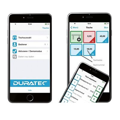 Duratec Mobile App für Duratec Kassensysteme Vectron Systems AG Marke