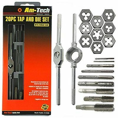 20 Piece Tap And Die Set High Strength Carbon Steel In Storage Case