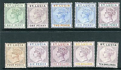 ST LUCIA-1891-98  A mounted mint set to 10/- Sg 43-52