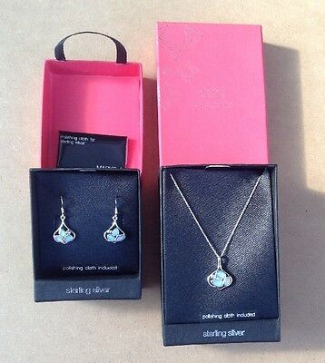 Marks & Spencer Sterling Silver Necklace & Earrings Set