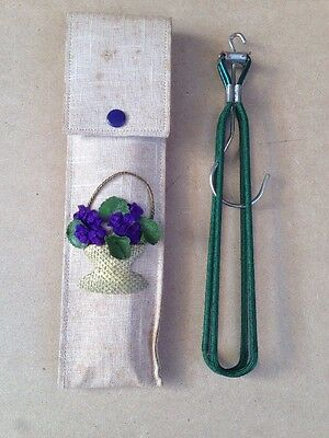 Vintage Travel Coat Hanger & Pouch