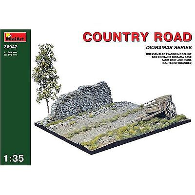 Diorama Country Road Plastic Model Kit 1/35 by MiniArt 36047