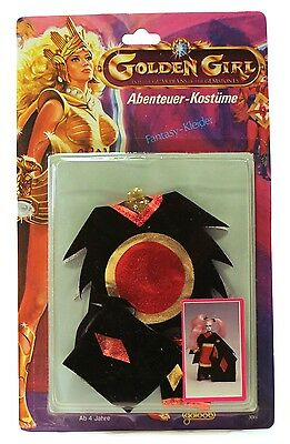 """1984 Galoob Golden Girl 6"""" Adventure Fashion FOREST FANTASY OUTFIT DRAGON QUEEN"""