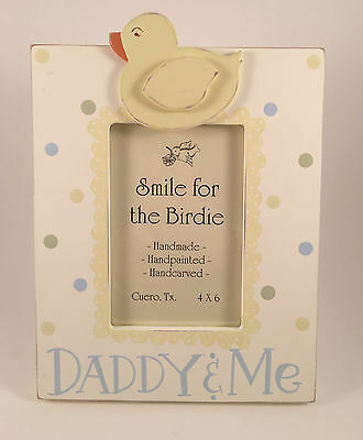 Smile for the Birdie Daddy and Me Handpainted Wooden Picture Frame - NEW