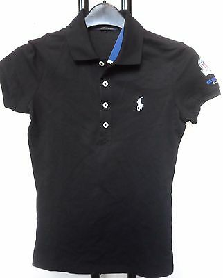 2014 Ryder Cup Black Slim Fit Polo Shirt By Ralph Lauren Ladies Size Small