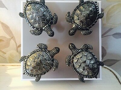 Large Metal Turtle Doorknobs Cupboards Door Pulls Set of 4 Doorknob 6300