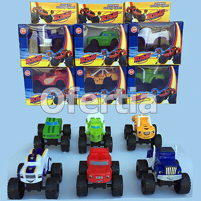 PRECIO FABRICA LOTE SET 6 COCHES BLAZE MONSTER MACHINE DARRINGTON PICKER ETC bm2