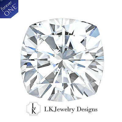 5.02 CT MOISSANITE FOREVER ONE CUSHION LOOSE STONE - 10.0 mm