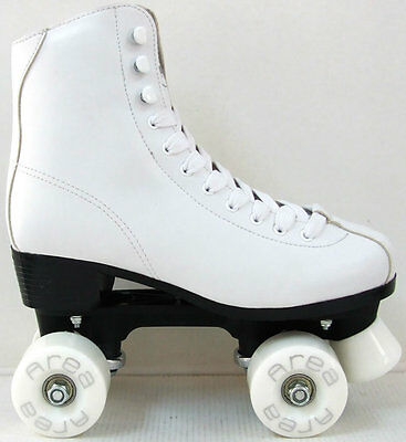 Roller skates 4 wheels Quad ARTISTIC bianchi with heel from 33 up to  41