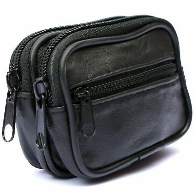Mens Soft REAL Leather Belt Wallet Purse Pouch Bum Bag Loop Card Holder Case