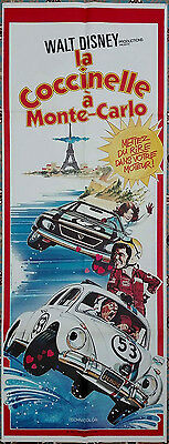 1977 HERBIE GOES TO MONTE CARLO Love Bug French door Original French film poster