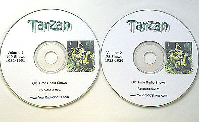 Tarzan 2 CD's-229 episodes! Old Time Radios 1932-1951-Lamont Johnson As Tarzan