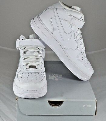 Nike Air Force 1 Mid (Gs) 314195 113  White Us Kids Size 4Y Free Shipping - New