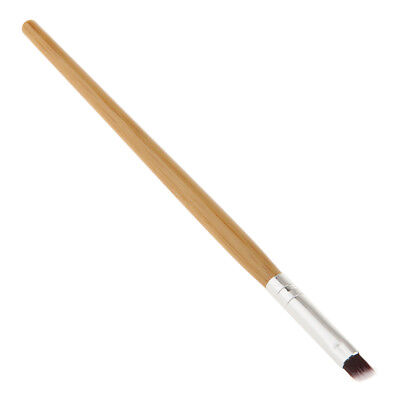 Angled Bamboo Handle Nylon Eyebrow Brush Nice Eye Liner Brow Makeup Tool