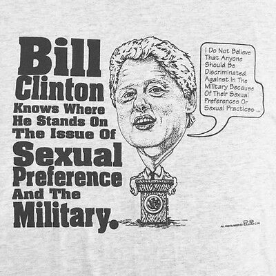 Vtg 1993 Rude Funny Political Bill Clinton Sexual Preference 2-Sided T-Shirt XXL
