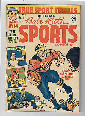 BABE RUTH SPORTS COMICS #5 - Grade 6.0 - Golden Age Beauty!!