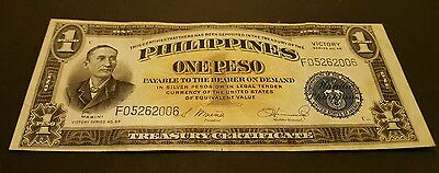 Philippines One Peso note victory 1922 1936 Currency