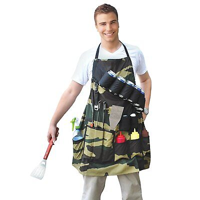Grill Sergeant BBQ Apron Cowboy Christmas Promo Camouflage Camo Bottle Opener