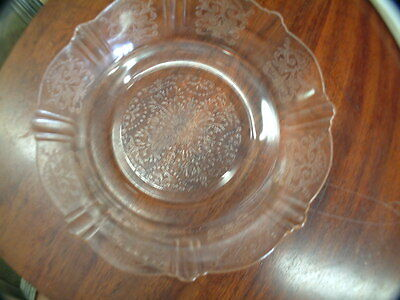"Antique Pink Depression Glass American Sweetheart  Pattern  Bowl 6""d"