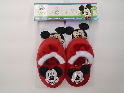 Mickey Mouse Sock & Slippers Set By Regent Baby Products, Disney Cute!