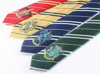 USA - NEW Harry Potter Gryffindor Slytherin Hufflepuff Ravenclaw Necktie Tie ZZ