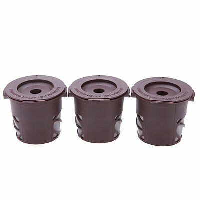 3x(3pcs Reusable K-cup Coffee Cafe Cup Single Mesh Filters Set CT
