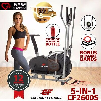 CONNECT FITNESS Elliptical Cross Trainer & Exercise Bike Home Gym Equipment