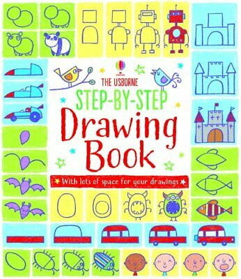 Step-by-step Drawing Book by Fiona Watt Book The Cheap Fast Free Post