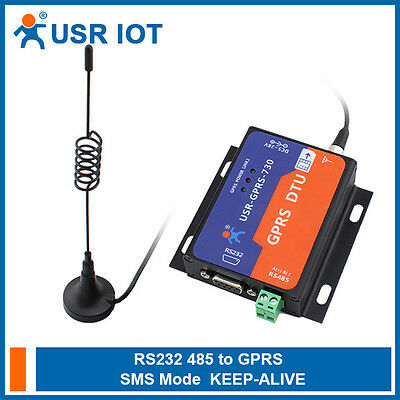 USR-GPRS232-730 GPRS DTU RS232/RS485 to GSM Server GSM850/900 DCS1800/1900