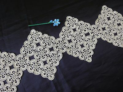 Floral Vintage Handmade Cotton Crochet Table Runner in Ecru Colour