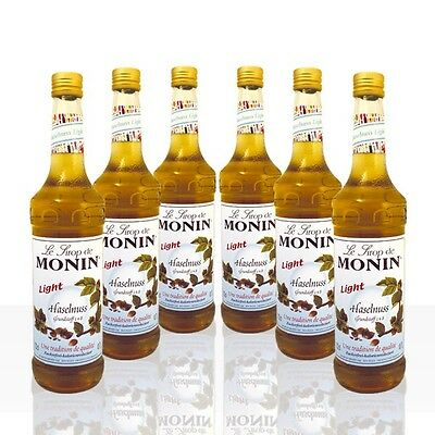 Monin Sirup Haselnuss light -zuckerfrei-  6 x 0,7 l
