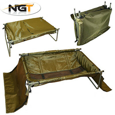 NGT Folding Carp Cradle Lightweight Fast Set Up With Cover – with FREE Forceps
