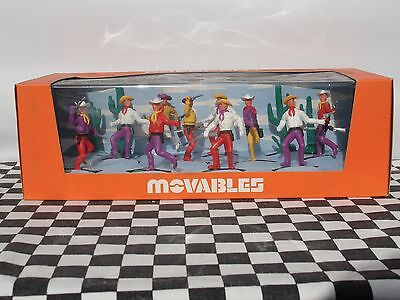 Crescent Movables 1960's Cowboys Set No. 902  New Old Stock Boxed