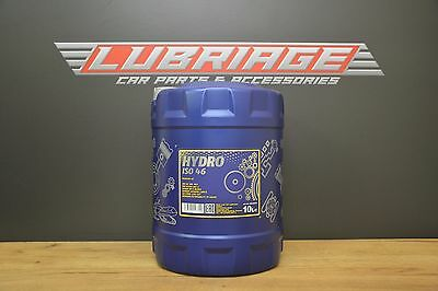 MANNOL ISO 46 Hydraulic Fluid Oil 10 Litre Drum - German Hi Spec DIN 51524