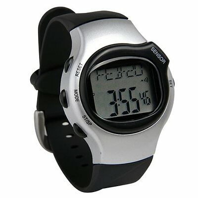 2x(Pedometer Heart Rate Watch Cardio Heart Rate Pulse Sport CT