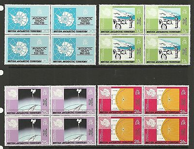 British Antarctic  Sg99-102 20Th Anniversary Of Ant Treaty In Blocks Of 4  Mnh